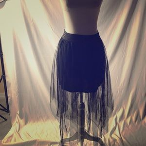 Black shear skirt